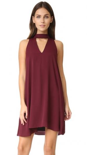 Платье Garland Amanda Uprichard. Цвет: винный