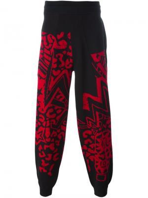 Жаккардовые спортивные брюки Grandmaster Flash Sibling. Цвет: чёрный