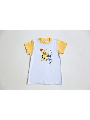 Пижама Iota. Цвет: белый, желтый