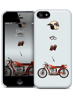 Чехол для iPhone 5/5S Bike Dave Murray Gelaskins. Цвет: белый