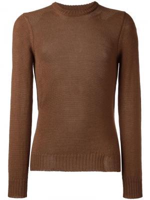 Трикотажный свитер Maison Margiela. Цвет: коричневый