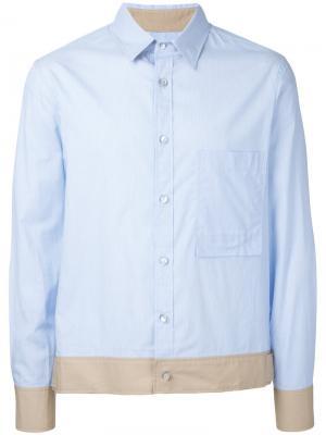 Contrasting hem shirt General Idea. Цвет: синий