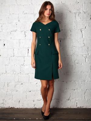Платье Fashion.Love.Story.. Цвет: темно-зеленый