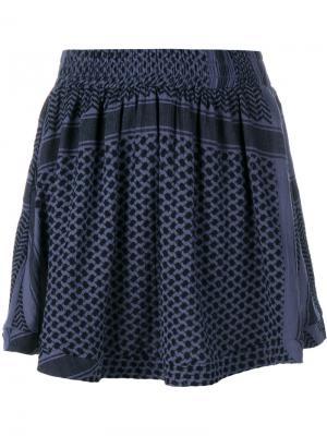 Расклешенная юбка мини Cecilie Copenhagen. Цвет: чёрный