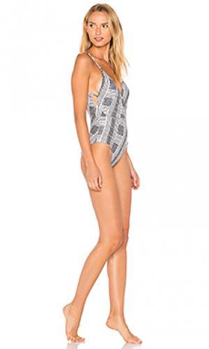 Слитный купальник madalena Vix Swimwear. Цвет: серый