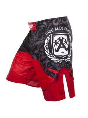 Шорты ММА Venum Jose Aldo Junior Signature UFC 156 Fightshorts - Black. Цвет: красный, черный