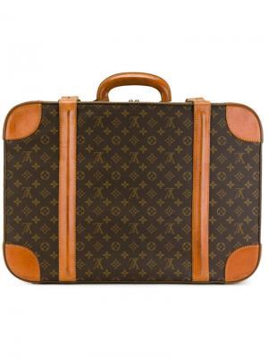Чемодан с монограммным узором Louis Vuitton Vintage. Цвет: коричневый