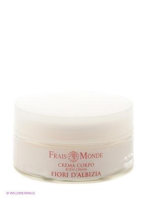 Крем для тела с ароматом цветов альбиции Frais Monde. Цвет: белый