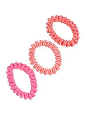 Резинка для волос (3 шт.) Happy Charms Family. Цвет: розовый, оранжевый