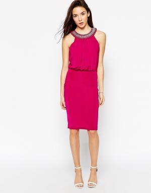Binky Платье с бретелью через шею for Lipstick Boutique Queensway. Цвет: малиновый