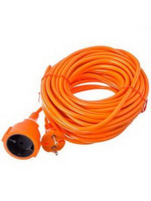 Удлинитель силовой в мотке, 2х0,75 мм2, 15м Ермак. Цвет: оранжевый
