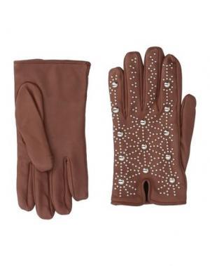 Перчатки DSQUARED2. Цвет: темно-коричневый