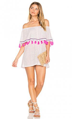 Мини платье ibiza Pitusa. Цвет: белый