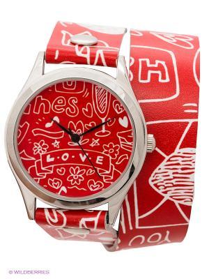 Часы DenisMart. Цвет: красный, белый