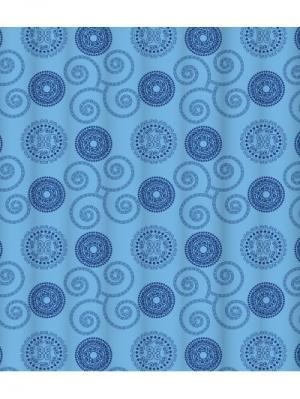 Штора для ванной комнаты LEMARK. Цвет: синий