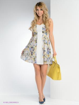 Платье FRENCH HINT. Цвет: белый, синий, темно-зеленый