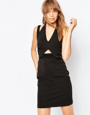 Suboo Платье с двумя бретелями Cubic. Цвет: черный