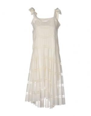 Платье до колена PHILOSOPHY DI LORENZO SERAFINI. Цвет: слоновая кость