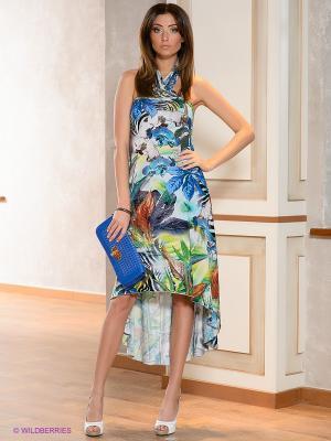 Платье МадаМ Т. Цвет: синий, белый, голубой, зеленый, салатовый