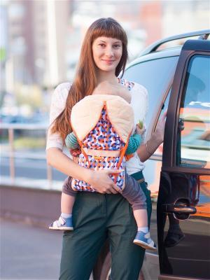 Рюкзак-кенгуру BabyActive  Choice Чудо-Чадо. Цвет: оранжевый