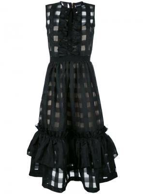 Платье Techno Vichy Marco Bologna. Цвет: чёрный