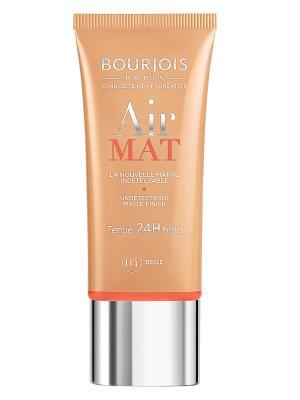 Тональный крем для лица Bourjois  Air Mat- Found De Teint, тон 04. Цвет: бежевый, розовый