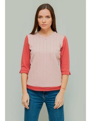 Пуловер Formalab. Цвет: терракотовый