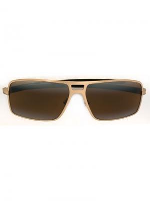 Солнцезащитные очки Tag Heuer. Цвет: металлический