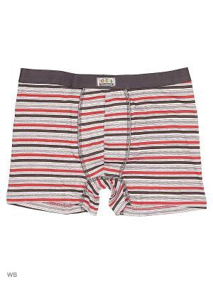 Трусы боксеры Oztas kids' underwear. Цвет: черный, серый, темно-красный, белый