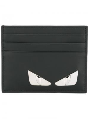 Визитница Bag Bugs Fendi. Цвет: чёрный