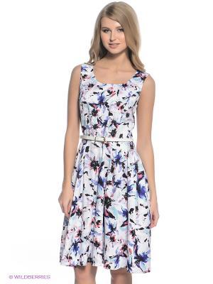 Платье Finn Flare. Цвет: белый, фиолетовый