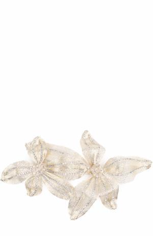 Заколка с цветочным декором Colette Malouf. Цвет: серебряный