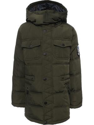 Куртка Finn Flare. Цвет: темно-зеленый