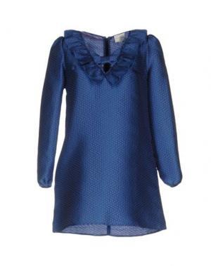Короткое платье PINK BOW. Цвет: пастельно-синий