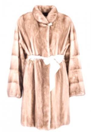 Пальто меховое MALA MATI. Цвет: бежевый