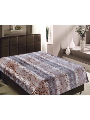 Плед Buenas Noches Bamboo, Шкура леопарда 1,5 сп. Цвет: коричневый