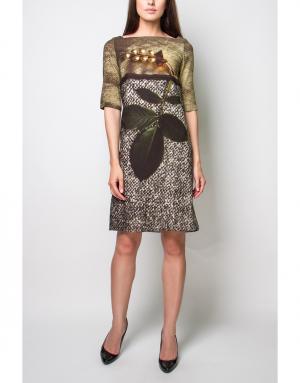 Платье с принтом Antony & Alison. Цвет: разноцветный