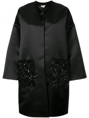 Декорированная куртка Dice Kayek. Цвет: чёрный