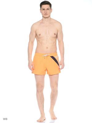 Бордшорты GUESS. Цвет: оранжевый
