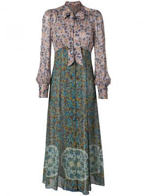 Платье макси с цветочным узором Anna Sui. Цвет: многоцветный