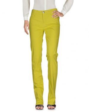 Повседневные брюки MARANI JEANS. Цвет: кислотно-зеленый