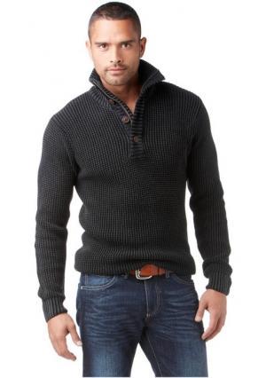 Пуловер BRUNO BANANI. Цвет: темно-серый