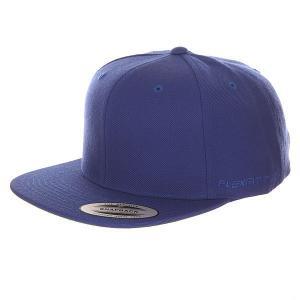 Бейсболка с прямым козырьком  6089m Royal Flexfit. Цвет: синий