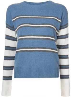 Полосатый свитер Derek Lam 10 Crosby. Цвет: синий