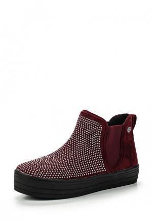 Ботинки Chika10. Цвет: бордовый