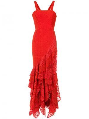 Maite lace gown Martha Medeiros. Цвет: красный