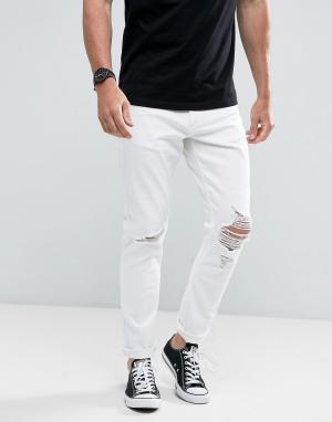 Rollas Белые джинсы Thin Captain Flame Trees. Цвет: белый