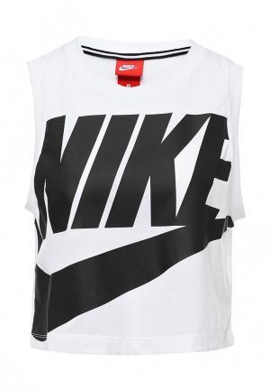 Топ Nike. Цвет: белый