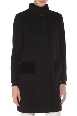 Пальто с высоким воротом Cinzia Rocca. Цвет: черный