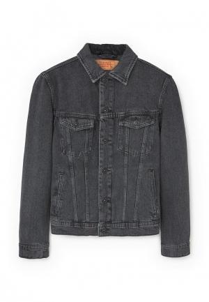 Куртка джинсовая Mango Man. Цвет: серый